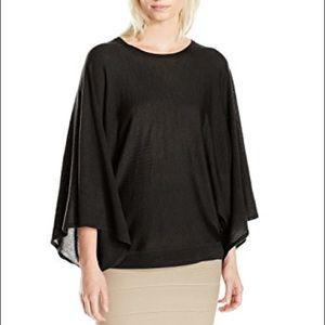 Black BCBG Max Azria Merino Wool Pullover Poncho!