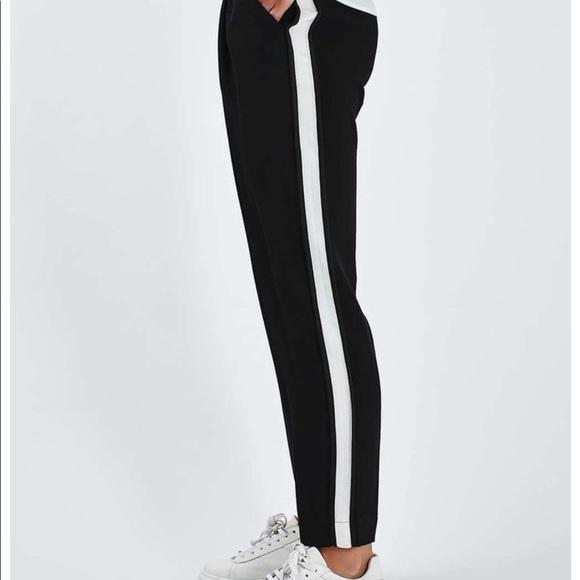 019627cf Zara Pants | Black With White Stripe Down Leg | Poshmark