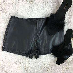 Charlotte Russe Studded Vegan Leather Short Shorts