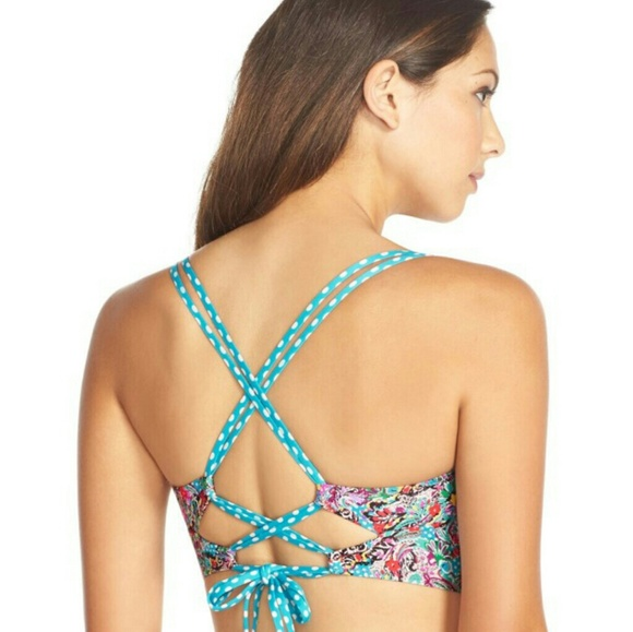 b04028fd21 Printed Push-Up Bustier Bikini Top
