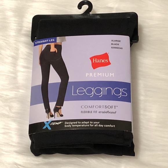 11413ad2b50d2 Hanes Pants | Leggings Comfort Soft Straight Leg Black Xl | Poshmark