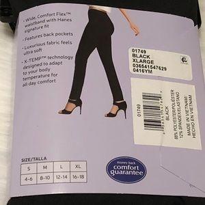 b778f51923557 Hanes Pants | Leggings Comfort Soft Straight Leg Black Xl | Poshmark