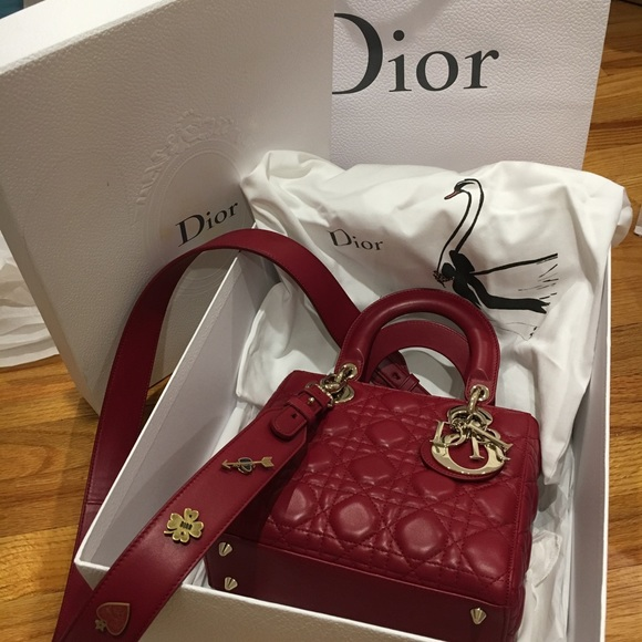 b873db143b7 Lambskin My Lady Dior 100% Authentic