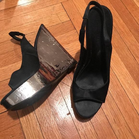 Shoes - Silver & Satin Espadrilles