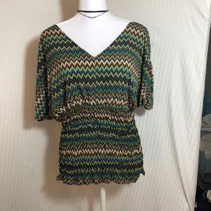 Worthington chevron design blouse
