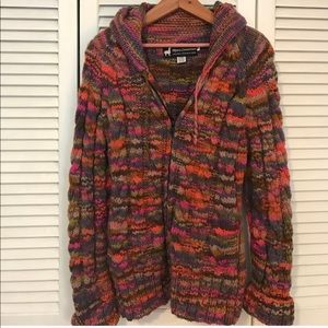 Jackets & Blazers - Multicolored knitted jacket/hoodie