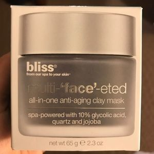 NEW $50 Bliss Spa Multi-faceted clay mask