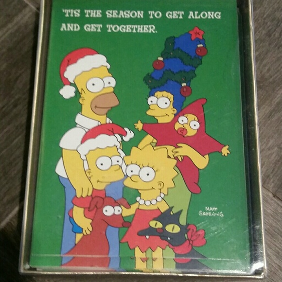 Simpsons Christmas.Vintage Simpsons Christmas Cards New Sealed Nwt