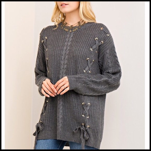 Boutique - Criss-Cross Soft Cable-knit Sweater from Stevie's ...