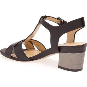 French Connection Lara Sandals Black Leather 8.5