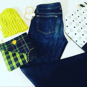 Accessories - Studded Neon Lime Wool Beanie Hat