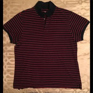 Old Navy - Red and blue striped polo.