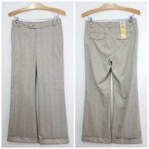 Slacks Favorite Trouser Wide Leg Glen Check Plaid