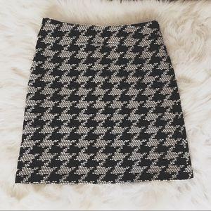 Talbots Black White Off White Skirt
