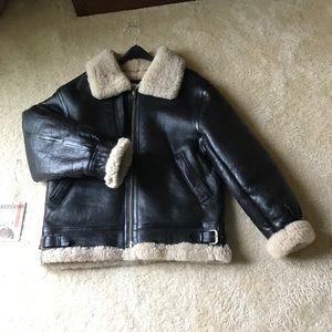 """ba2d8bdec """"Redskins"""" Men's sheep skin vintage bomber jacket"""