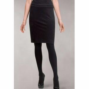 CAbi Miranda Black Ponte Pencil Skirt