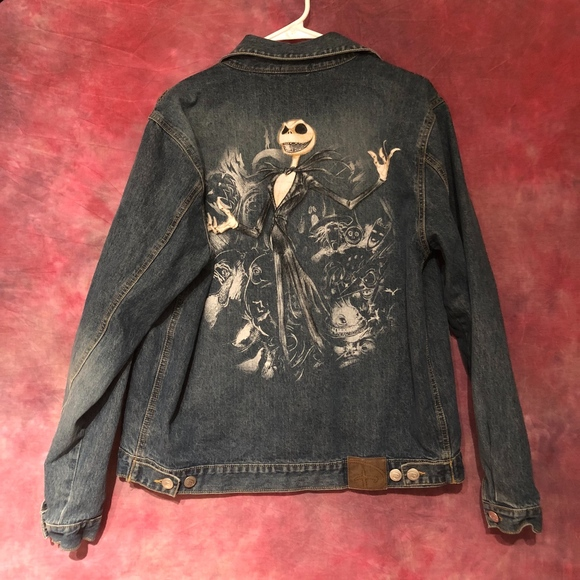 Disney Other - Nightmare Before Christmas Jean Jacket
