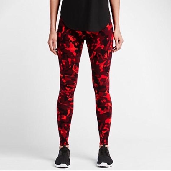 unique design super cheap compares to best site Nike Red Camo Leggings