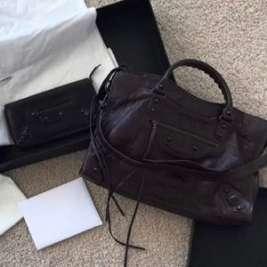 100% guaranteed authentic balenciaga city + wallet