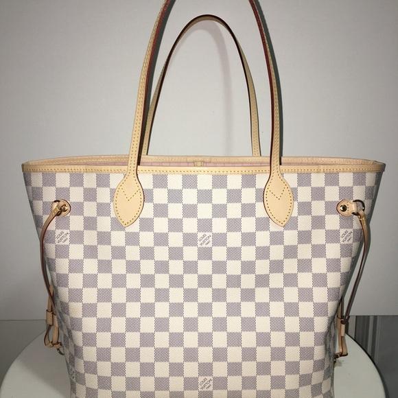 5386ed8a18f Louis Vuitton Bags   Neverfull Mm Damier Azur Rose Ballerine   Poshmark
