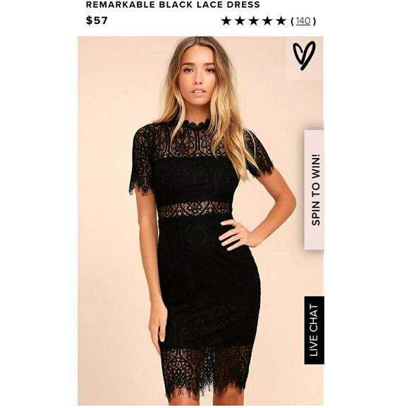 481fdc2947e0 Lulu's Dresses & Skirts - Remarkable Black Lace Dress - Lulu's