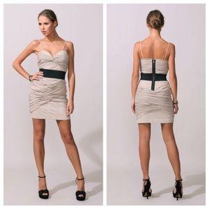 Foley + Corinna Ruched Netting Dress