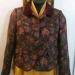 DKNY Multi-Color Floral Print Jacket