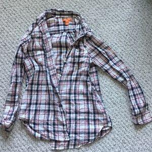 Joe Fresh plaid shirt, size medium