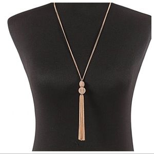 Jewelry - GOLD TASSLE BAUBLE CHARM NECKLACE CHAINS