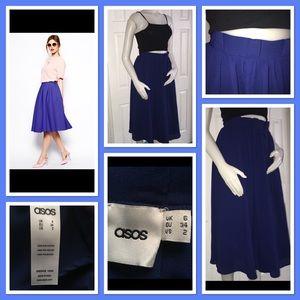ASOS Navy Blue Midi Skirt 6