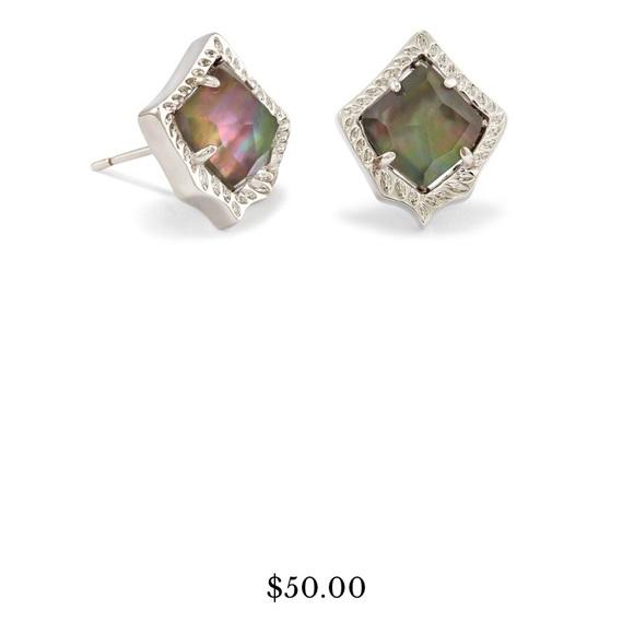 c361a7bca Kendra Scott Jewelry | New Kirstie Stud Earringsblack Pearl | Poshmark
