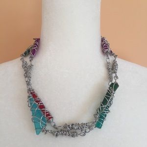 Jewelry - Wire and bead statement necklace
