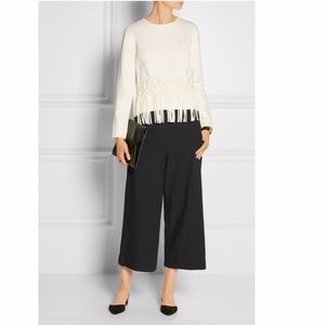 New TIBI $350 Anson stretch woven wide-leg culotte