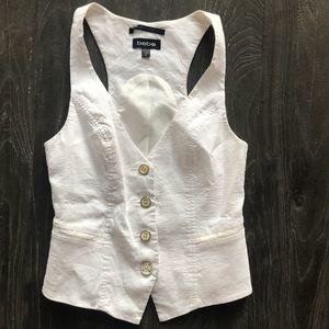 White Bebe vest. Worn 2 times.