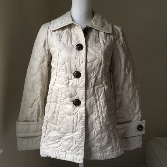 Laundry By Design Ecru Quilted Jacket Xs Poshmark
