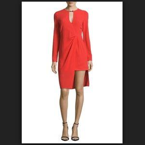 Halston Heritage Solid Layered Dress