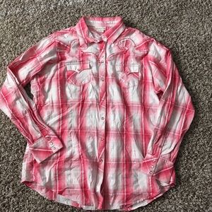 Ariat XL Plaid Western Shirt.