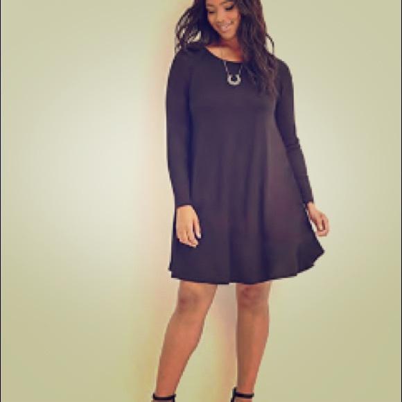 Forever 21 Dresses Black Plus Size Trapeze Dress Poshmark