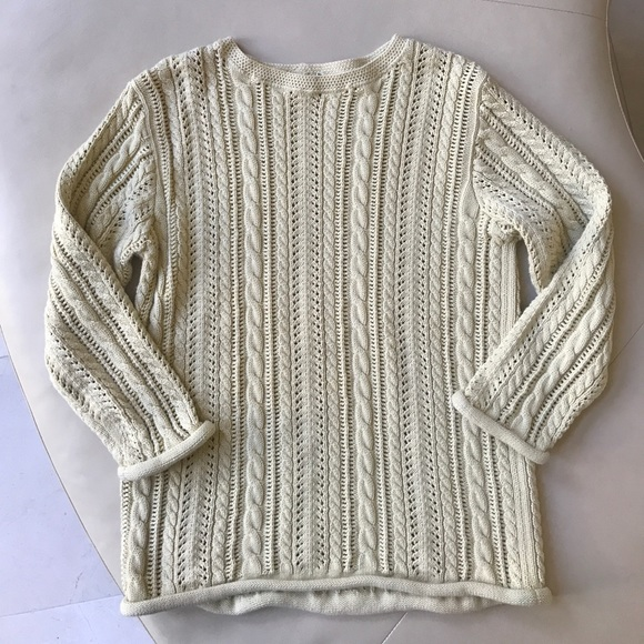 J. Crew - J.Crew Cotton Chunky Cable Knit Sweater 💜 Sz M from ...