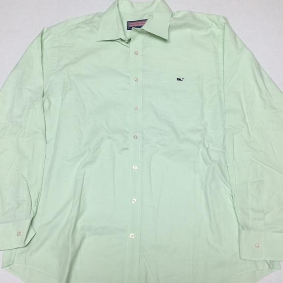 c1158d1272a3 Vineyard vines whale logo green button shirt