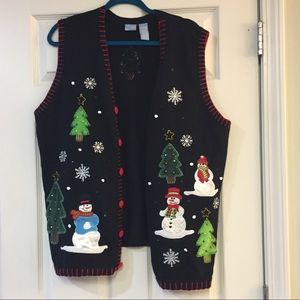 Sweaters - Snowman Tacky Christmas Sweater Vest