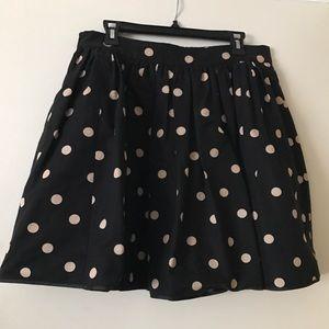 kate spade polka dot full party skirt