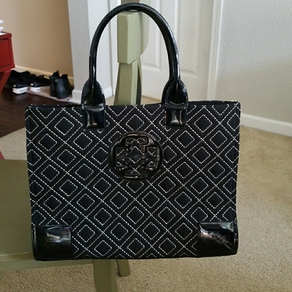 4791d4bfe08 Tory Burch Quilted Ella Tote. M 5a04860df739bc7be3036a7b