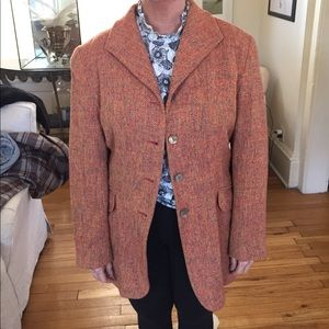Vintage Oilily orange tweed coat