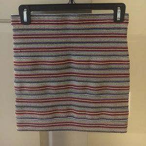 Multicolor textured bandage skirt