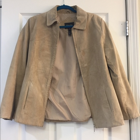 Jackets & Blazers - Tan Leather Jacket