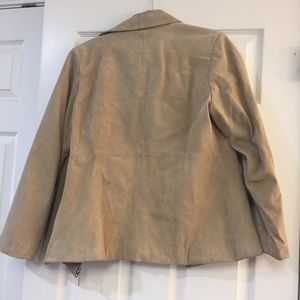 Jackets & Coats - Tan Leather Jacket