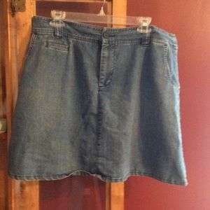 Size 14 jean skorts with pockets.