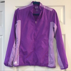 Purple Adidas Light Windbreaker