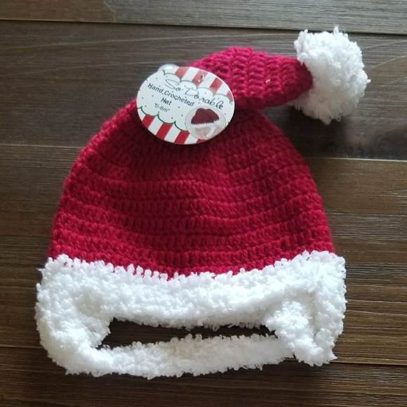 9e268c3c399 Crocheted Santa hat   diaper cover